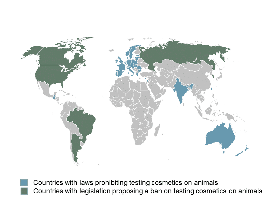 Map - Cruelty-Free Countries